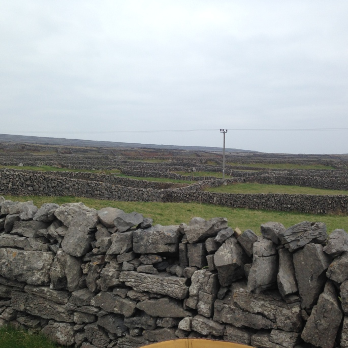 Rock walls of Aran Islands